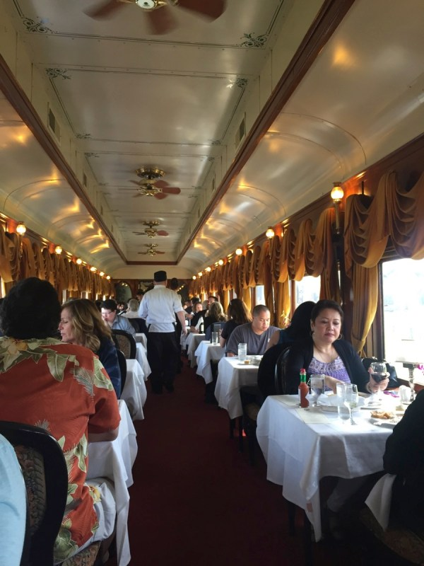 Inside our dining car