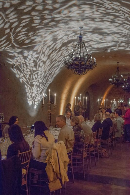 Seated Guests at Winemaker Dinner