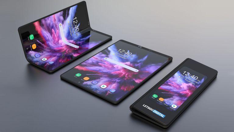 Image du smartphone pliable de Samsung.
