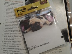 These were the last ones left at Target. I love Post-it's and I love pugs.