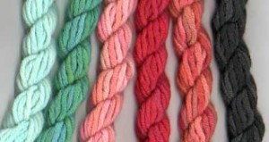 Palette of threads for Stitch your Stash