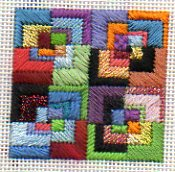 Needlepoint from Eye Candy showing thread texture