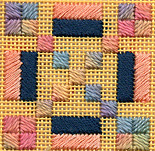 Needlepoint Independence Block Twinchy