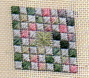 Needlepoint Twinchy using Watercolours