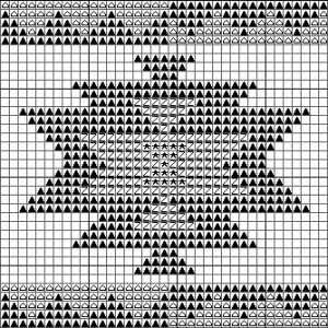 eye dazzler navajo rug motif charted for needlepoint