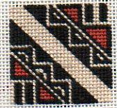 pueblo pot fragment in needlepoint