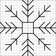 needlepoint blackwork pattern free of snowflake
