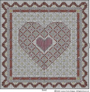 laura perin needlepoint pattern free of hearts for valentines days