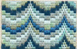 bargello needlepoint swag pattern stitched