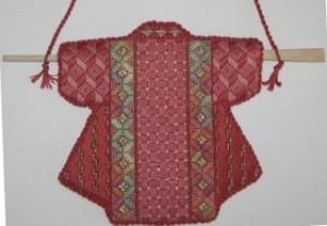 finished needlepoint kimono