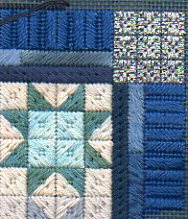 winter stars needlepoint stash project from janet perry, final borders and corner