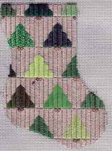 needlepoint ornament of pine tree quilt
