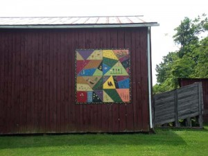crazy quilt barn in Kentucky
