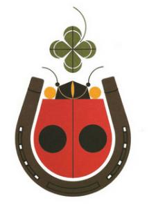 charley harper ladybug four leaf clover horseshoe