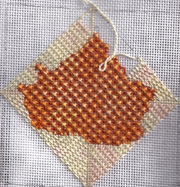 mitered background for needlepoint, diagonal mosaic