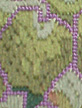leaf stitched in longstitch needlepoint