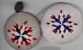 connecticut star eight-point star needlepoint ornament