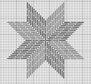 needlepoint eight point star (star of lemoyne) by Janet perry