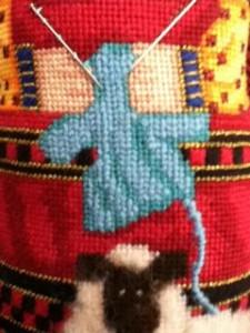 Stitching A Sweater Nuts About Needlepoint