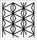 japanes hemp leaf pattern charted for blackwork, designed by needlepoint expert janet m. perry