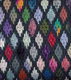 stash-busting needlepoint based on stained glass designed by needlepoint expert janet m. perry