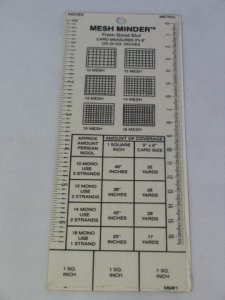 mesh minder for measuring needlepoint
