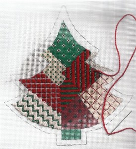 painted-stitches needlepoint canvas, stitched by needlepoint expert janet m. perry