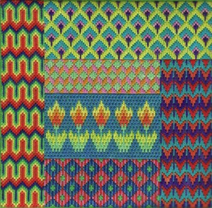 Bargello needlepoint sampler from fingerstep designs, reviewed by needlepoint expert janet m. perry