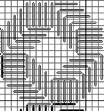 interlocking chevrons bargello needlepoint pattern, diagrammed by needlepoint expert janet m. perry
