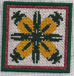 needlepoint pineapple hawaiian quilt frpm keir designs, stitched by needlepoint expert janet m. perry