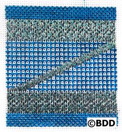 zornament needlepoint from blue dogwood designs