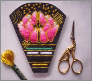 ziva needlepoint scissors case