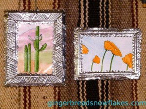 Make these tin frames for your needlepoint easily