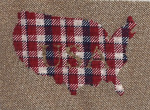 needlepoint plaid for usa, free project designed by needlepoint expert janet m. perry