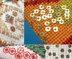 paillette collage