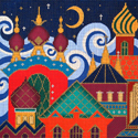 Amanda Lawford's Russian Village is one of my favorite canvases.