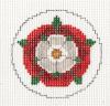 Tudor Rose from Rogue Needlepoint