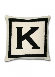 You can make a custom monogram pillow like this easily