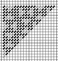 rotating T diaper pattern, copyright Napa Needlepoint