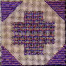 Grrek Cross block (laidwork) copyright Napa Needlepoint