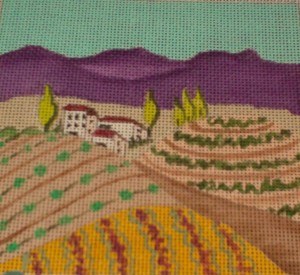 Italian vineyard needlepoint canvas
