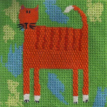 sophie harding needlepoint cat