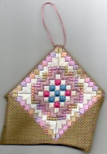 partially folded ornament from the front