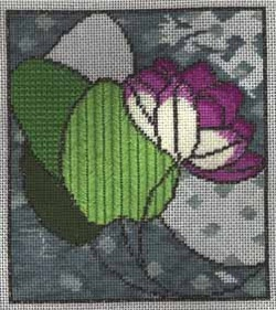 waterlily stained glass needlepoint