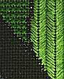 Waterlilies Needlepoint (detail)