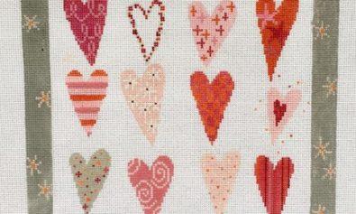 twelve heartsneedlepoint