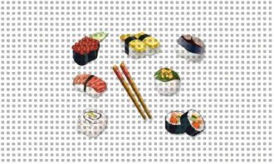 sushi needlepoint canvas