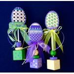 whimsy & grace needlepoint eggs