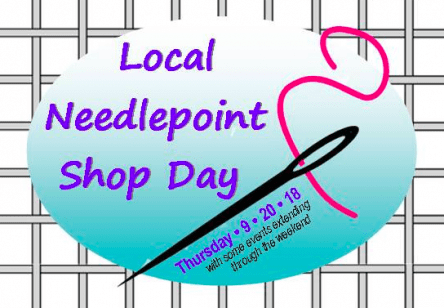 Needlepoint Shop Day event in Michigan