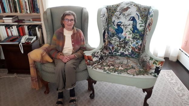 Needlepoint Chair Goes Viral